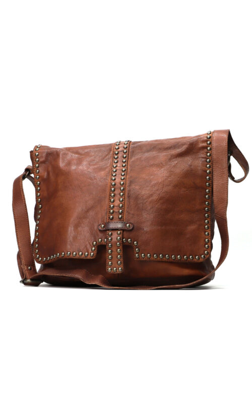 MAHSON AND CO LONDON LEATHER BAG COGNAC