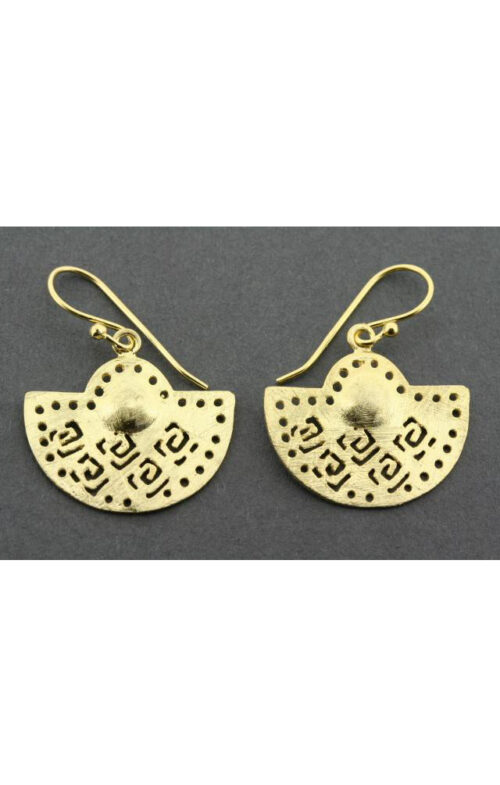 ALAN MYERSON TKE478 MAGHREB SUN EARRING GOLD PLATED