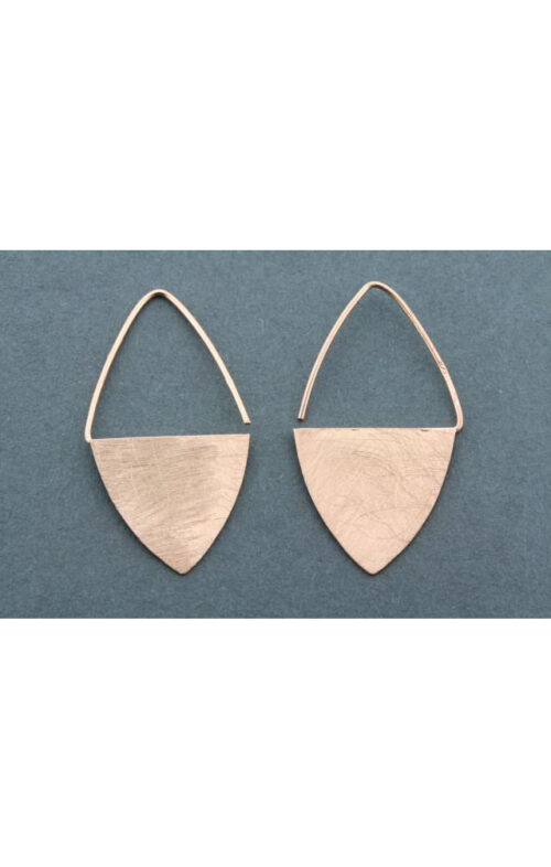 ALAN MYERSON TKE336 SHIELD EARRING ROSEGOLD OVER SILVER