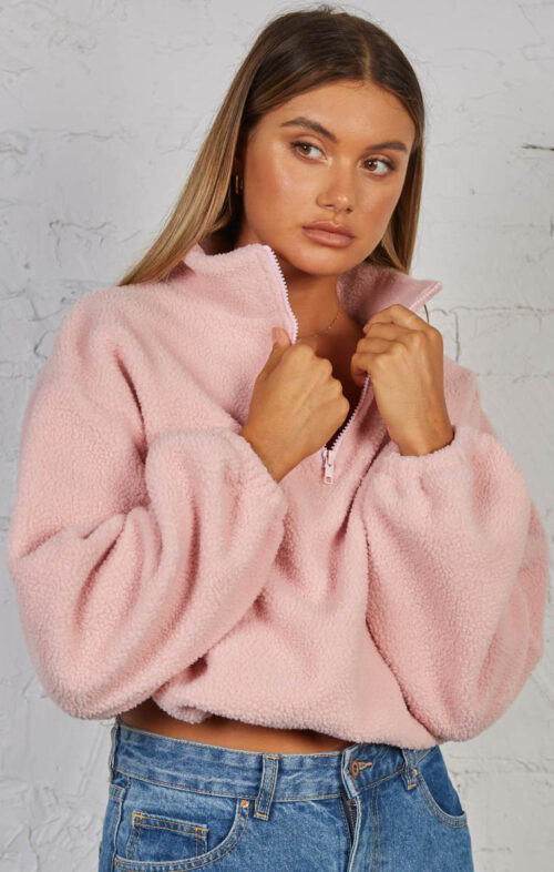 SNDYS THE LABEL PAIGE PULLOVER BABY PINK