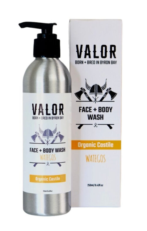 SHAVE WITH VALOR CASTILE FACE BODY WASH WATEGO