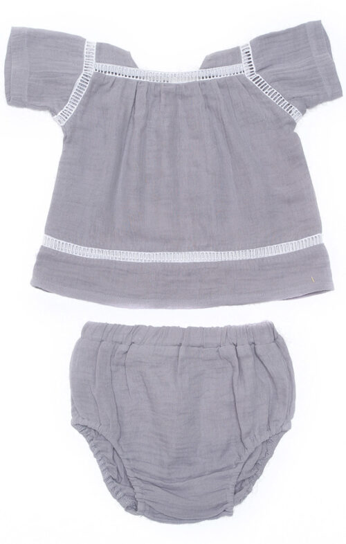 ALEX & ANT BELLE TOP & BLOOMERS SILVER