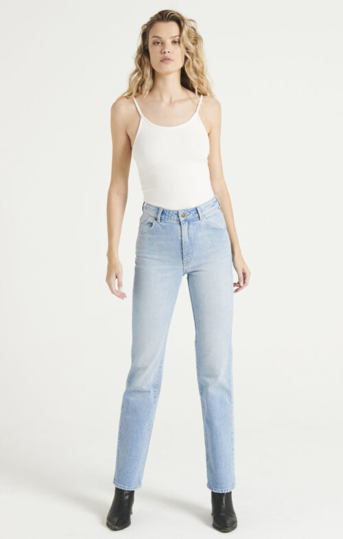 ROLLAS ORIGINAL STRAIGHT LONG JEANS FADED VINTAGE