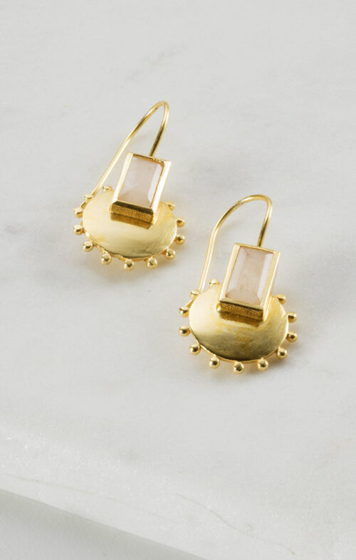 ZAFINO EARRINGS MORGAN MOONSTONE GOLD