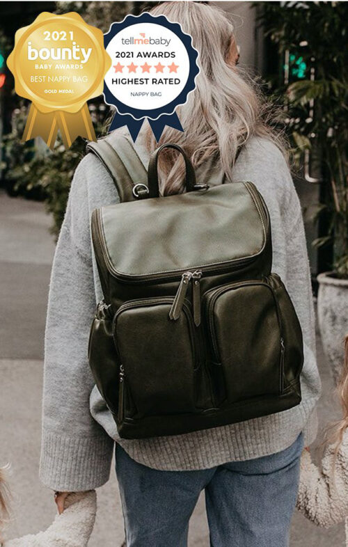 OIOI NAPPY BAG BACKPACK OLIVE