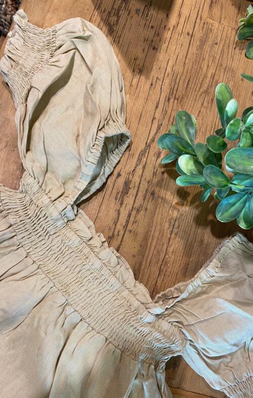 VALERIA PIA LINEN DRESS NATURAL